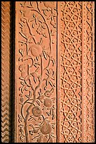 Intricate carvings on the Rumi Sultana building. Fatehpur Sikri, Uttar Pradesh, India (color)