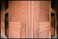Rumi Sultana, entirely covered with carvings. Fatehpur Sikri, Uttar Pradesh, India (color)