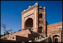 54m-high gate built to commemorate Akbar's victory in Gujarat, Dargah mosque. Fatehpur Sikri, Uttar Pradesh, India ( color)