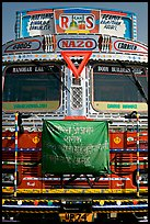 Decorated truck. Fatehpur Sikri, Uttar Pradesh, India (color)