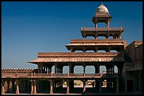 Panch Mahal. Fatehpur Sikri, Uttar Pradesh, India (color)