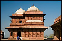 Birbal Bhavan. Fatehpur Sikri, Uttar Pradesh, India (color)
