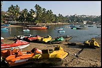 Jetboats, Dona Paula harbor. Goa, India (color)