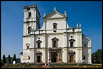 Se Cathedral facade in Tuscan style, Old Goa. Goa, India (color)