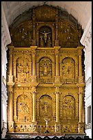 Main altar, dedicated to St Catherine of Alexandria, Se Cathedral , Old Goa. Goa, India ( color)