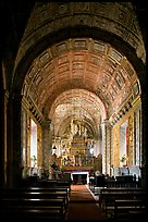 Side chapel, Se Cathedral , Old Goa. Goa, India