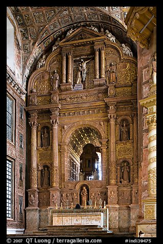 Main altar, Church of St Francis of Assisi, Old Goa. Goa, India (color)