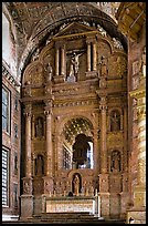 Main altar, Church of St Francis of Assisi, Old Goa. Goa, India
