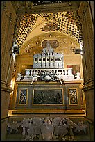 Three-tiered marble tomb of St Francis, Basilica of Bom Jesus, Old Goa. Goa, India (color)