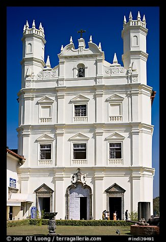 Portuguese church of St Francis of Assisi, Old Goa. Goa, India (color)