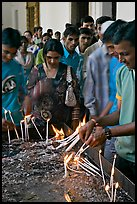 Popular candle burning spot, Basilica of Bom Jesus, Old Goa. Goa, India