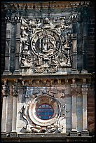 Facade decor, Basilica of Bom Jesus, Old Goa. Goa, India ( color)