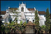 Church and convent of St Monica, Old Goa. Goa, India (color)