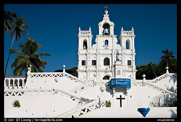 Church of our Lady of the Immaculate Conception, afternoon, Panaji. Goa, India