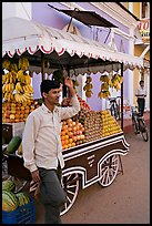 Fruit vendor, Panjim (Panaji). Goa, India