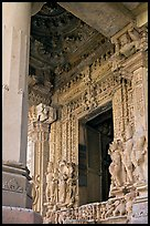 Entrance porch (ardhamandapa), Parsvanatha temple, Eastern Group. Khajuraho, Madhya Pradesh, India
