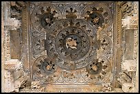 Ceiling decor of temple entrance, Parsvanatha, Eastern Group. Khajuraho, Madhya Pradesh, India ( color)