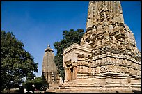 Parsvanatha and Adinath Jain temples, Eastern Group. Khajuraho, Madhya Pradesh, India