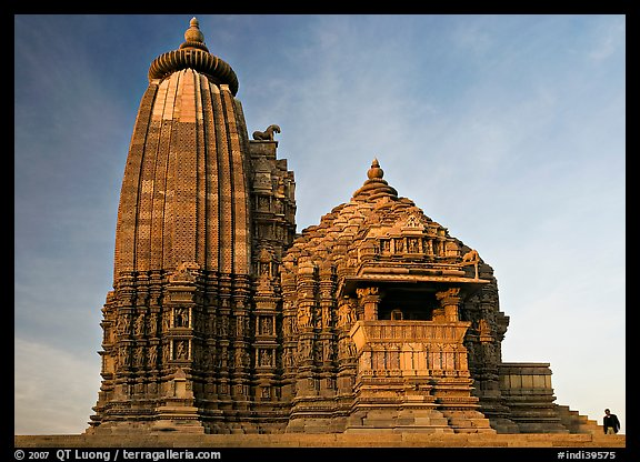 Vamana temple, Eastern Group, late afternoon. Khajuraho, Madhya Pradesh, India (color)