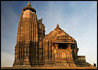 Vamana temple, Eastern Group, late afternoon. Khajuraho, Madhya Pradesh, India