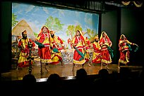 Folksdance performed on Kandariya art and culture show stage. Khajuraho, Madhya Pradesh, India (color)