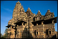 Lakshmana temple, early morning. Khajuraho, Madhya Pradesh, India (color)