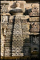 Temple decor detail, Lakshmana temple. Khajuraho, Madhya Pradesh, India