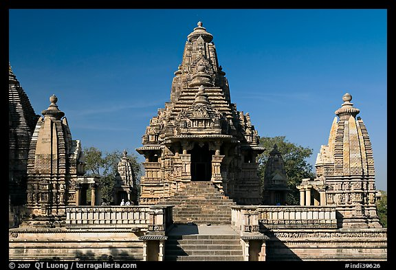 Lakshmana temple. Khajuraho, Madhya Pradesh, India (color)