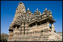 Kadariya-Mahadeva temple seen from the side. Khajuraho, Madhya Pradesh, India