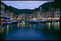 Port at dusk, Portofino. Liguria, Italy ( color)