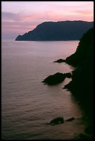 Cliffs at sunset near Vernazza. Cinque Terre, Liguria, Italy ( color)