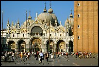 Basilica San Marco, late afternoon. Venice, Veneto, Italy (color)