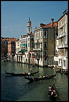 Grand Canal seen from the Rialto Bridge. Venice, Veneto, Italy