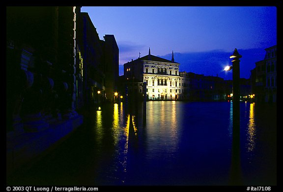 Grand Canal Venice Night Grand Canal at Night With