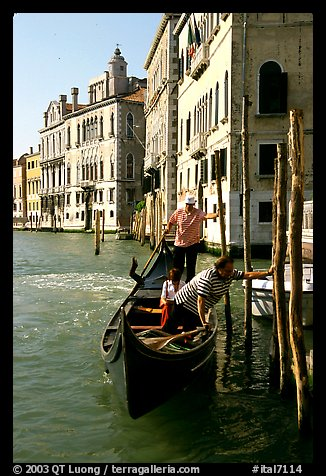 Traghetto crossing. Venice, Veneto, Italy (color)