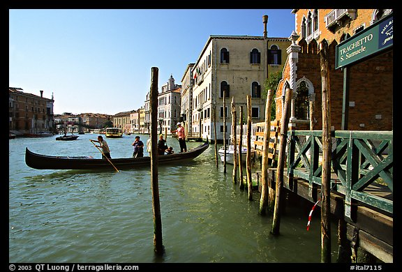 Grand Canal with Traghetto. Venice, Veneto, Italy