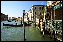 Grand Canal with Traghetto. Venice, Veneto, Italy (color)