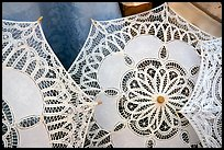 Lace, the specialty of the island of Burano. Venice, Veneto, Italy