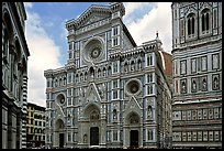 Facade of the Duomo. Florence, Tuscany, Italy (color)