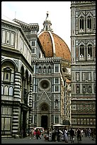 Baptistry, Campanile tower, and Duomo. Florence, Tuscany, Italy (color)