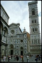 Campanile tower and Duomo. Florence, Tuscany, Italy ( color)
