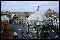 Baptistry and plazza. Florence, Tuscany, Italy