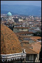 The city, with Dome by Brunelleschi in the foreground. Florence, Tuscany, Italy ( color)