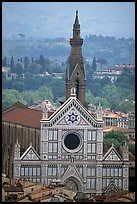 Santa Croce, seen from the Campanile. Florence, Tuscany, Italy