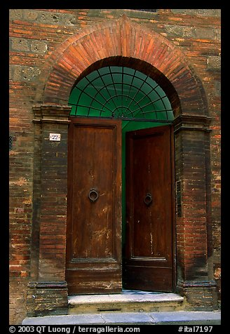 Old door. Siena, Tuscany, Italy