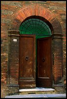 Old door. Siena, Tuscany, Italy (color)