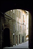 Archway and narrow street. Siena, Tuscany, Italy (color)