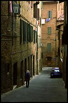 Narrow street. Siena, Tuscany, Italy ( color)