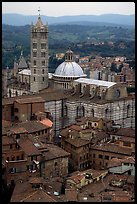 Duomo seen from Torre del Mangia. Siena, Tuscany, Italy (color)