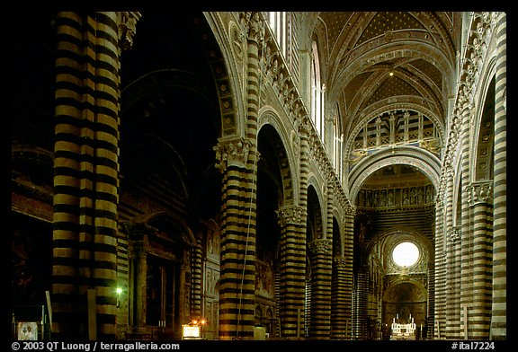 Interior of the Duomo. Siena, Tuscany, Italy (color)